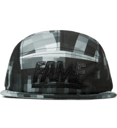 Hall of Fame Black Leather Block 5 Panel Strapback Picutre