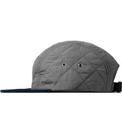 The Quiet Life Grey Quilted 5 Panel Cap Model Picture