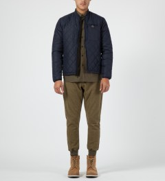 Penfield Navy Kasota Quilted Layer Jacket Model Picture
