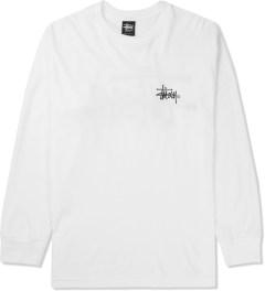 Stussy White Basic Logo L/S T-Shirt Picture