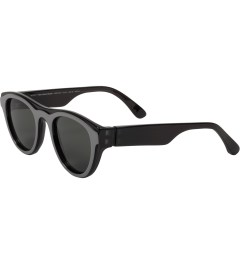 MYKITA Mykita x Maison Martin Margiela Black/Black MMDUAL003 Dark Grey Solid Sunglasses Model Picture