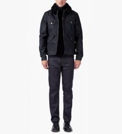 ami Shearling Collar Denim Jacket Model Picutre