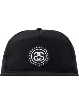 Stussy Black SS Link Rubber Patch Cap Picture
