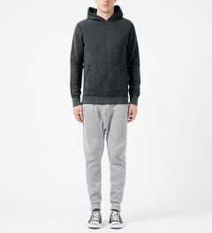 Reigning Champ Black/Natural RC-3258 Tiger Fleece L/S Pullover Hoodie Model Picture