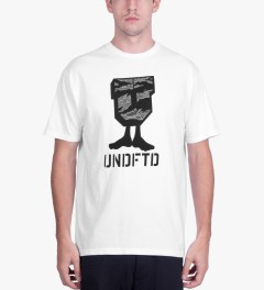 Undefeated White Camo U-Man T-Shirt Model Picutre