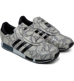 adidas Originals White/Black/Grey Micropacer OG Snakeskin Shoes Model Picture