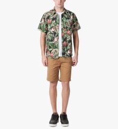 HUF Black Waikiki S/S Woven Shirt Model Picutre