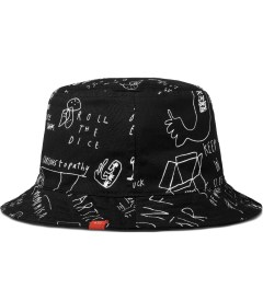 Lazy Oaf Black Bucket of Sketch Bucket Hat Model Picutre