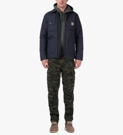 Carhartt WORK IN PROGRESS Camo Dark Island Regular Cargo Pants Model Picutre