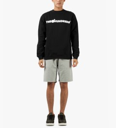 The Hundreds Black Forever Bar Crewneck Sweater Model Picture