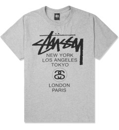 Stussy Heather Grey World Tour T-Shirt Picture