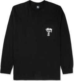 Stussy Black World Tour L/S Pocket T-Shirt Picture