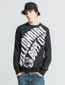 Billionaire Boys Club Black Edit Arch Logo Crewneck Sweater Picture