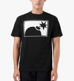 The Hundreds Black Forever Half-bomb T-Shirt Model Picture