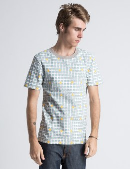 ICECREAM Grey Waffle Print T-Shirt Picture