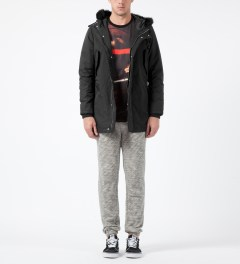 Black Scale Black Torpedo Jacket Model Picture