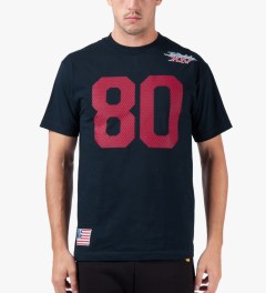 The Hundreds Navy Jersey T-Shirt Model Picture