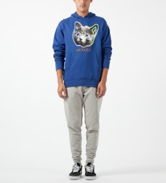 Odd Future Royal Blue OFWGKTA Tron Cat Hoodie Model Picture