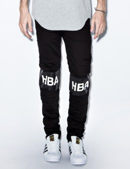 Hood By Air. Black Classic Hockey Stripe Jeans Picture