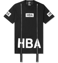 Hood By Air. Black Box Logo S/S Double Zip T-Shirt Picture