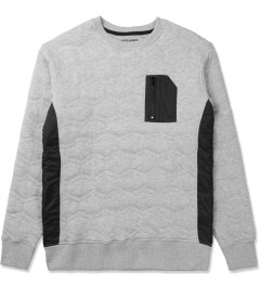 Staple Heather Miramar Quilted Crewneck Sweater Picture