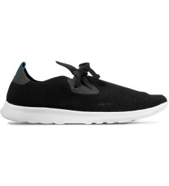 Native Jiffy Black/Shell White Rubber Apollo Moc Shoes Picture