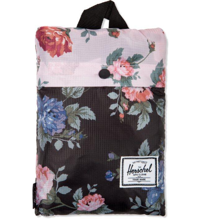 Black Floral/Pink Floral Packable Duffle Bag