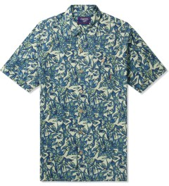 Lightning Bolt Deep Grass Green Tropical Garden Aloha Shirt Picutre