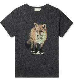 Maison Kitsune Dark Grey Walking Fox Print R-neck T-Shirt Picutre