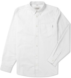 Carhartt WORK IN PROGRESS White Rinsed L/S Buck Shirt Picutre