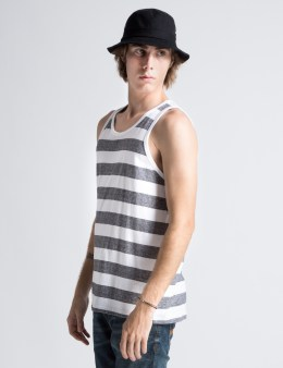 Stussy White Pinline Tank Picture