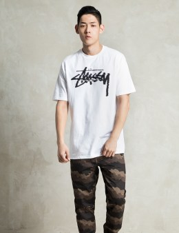 Stussy White Glitch T-Shirt Picture
