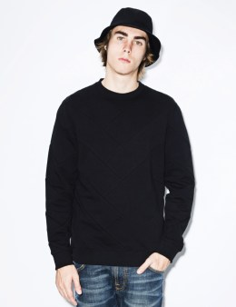 IUTER Black Parquet Blank Sweater Picture