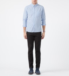 FUCT SSDD Blue SSDD Oxford Shirt Model Picture