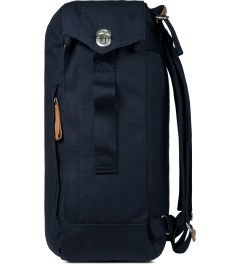 QWSTION Organic Navy Backpack Model Picture