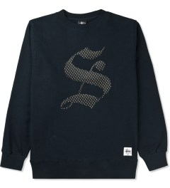 "Stussy Navy Old English ""S"" Crew Sweater Picutre"
