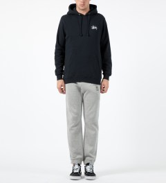 Stussy Navy Basic Logo Hoodie Model Picture