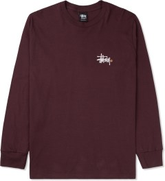 Stussy Wine Basic Logo L/S T-Shirt Picture