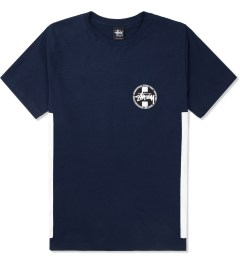 Stussy Navy Worldwide Dot T-Shirt Picture