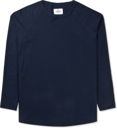 Reigning Champ Navy Solid Jersey L/S Raglan T-Shirt Picture