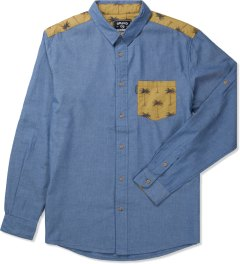 Grand Scheme Blue Sahara Trim L/S Shirt Picutre