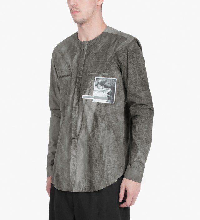 Slate Grey SALIX Collarless Shirt