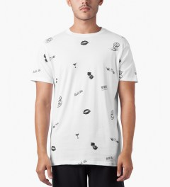 HUF White Kiss Blow Roll S/S T-Shirt Model Picutre