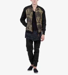 ZANEROBE Palm Camo Kapu Bomber Jacket Model Picture