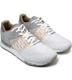 Reebok Garbstore x Reebok Flat Grey/White/Steel CL Leather 6000 Shoes Model Picutre