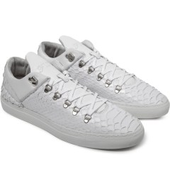 Filling Pieces Wired White Woven Leather Low Top Sneakers Model Picutre