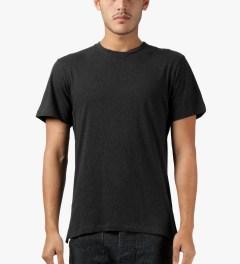 CLOT Black Fish Tail Leather T-Shirt Model Picutre