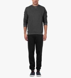 Marshall Artist Black Melange Classic Sweatpants Model Picutre