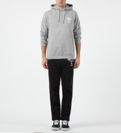 Stussy Heather Grey Camo App World Tour Hoodie Model Picture