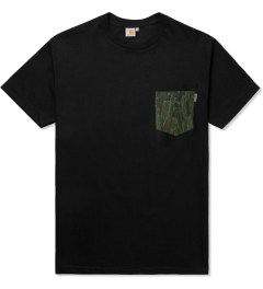 Carhartt WORK IN PROGRESS Black/Cactus S/S Olson Pocket T-Shirt Picutre